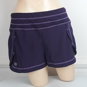 ATHLETA PURPLE STABILITY RUNNING SHORTS SZ SMALL